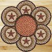 Earth Rugs 7 Piece Barn Star Trivets in a Basket Set