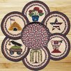 Earth Rugs 7 Piece Summer Trivets in a Basket Set