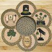 <strong>Earth Rugs</strong> 7 Piece Irish Trivets in a Basket Set
