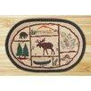 Earth Rugs Moose/Canoe Rug