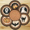 Earth Rugs 7 Piece Halloween Trivets in a Basket Set