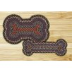 <strong>Earth Rugs</strong> Burgundy/Blue Dogbone Novelty Rug
