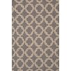 Dash and Albert Rugs Hooked Plain Tin Grey Geometric Area Rug