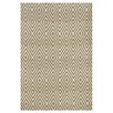 <strong>Dash and Albert Rugs</strong> Woven Diamond Khaki/White Indoor/Outdoor Rug
