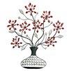 Hazelwood Home Faux Vase & Flower Wall Décor