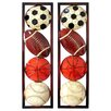 <strong>Hazelwood Home</strong> 2 Piece Sports Motif 3D Wall Décor Set