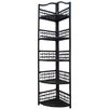 <strong>Folding Wicker Corner Shelving Unit</strong> by Hazelwood Home