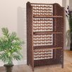 Hazelwood Home Folding Wicker Shelving Unit