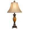 "Hazelwood Home LMP Metal and Polyresin 25"" H Table Lamp with Bell Shade"