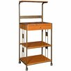 Hazelwood Home Microwave Cart with Wood Top