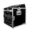Road Ready Cases DJ / Mi Slant Rack System - 10U Slant Mixer Rack / Vertical