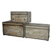 <strong>Fleur De Lis 3 Piece Rustic Trunk Set</strong> by Cheungs
