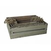 Cheungs 5 Piece Wooden Slatted Crate Set with Rope Handles