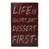 Cheungs Life Is Short Kitchen Wall Decor