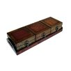 Wooden Treasure Chests with Tray in Brown