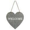 "Cheungs Heart Shaped ""Welcome"" Sign Wall Décor"