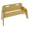 A+ Child Supply Stackable Two Seat Kid's Bench