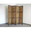 "Proman Products Bangkok 60"" x 67"" Folding Screen 4 Panel Room Divider"