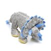Dinos Grey Frills Triceratops Dog Toy with Chew Guard