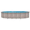 "<strong>Aqua Mate by Trevi Oval 52"" Deep Sunscape Above Gound Pool</strong> by Trevi"