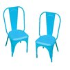 Leigh Classique Plain Metal Chair (Set of 2)