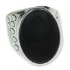 <strong>Novica</strong> The Zandra Lorena Sajbin Men's Sterling Silver Jade Ring