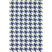 nuLOOM Trellis Regal Blue Houndstooth Area Rug