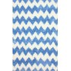 nuLOOM Block Island Blue/White Borris Area Rug