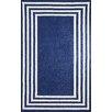 nuLOOM Klauss Faux Machine Made Blue Area Rug