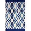 nuLOOM Novel Blue Franca Indoor / Outdoor Area Rug