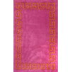 nuLOOM Block Island Pink Hanz Faux Area Rug