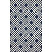 nuLOOM Barcelona Navy/White Jarred Area Rug