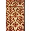 nuLOOM Damask Alma Machine Made Terra Outdoor Area Rug