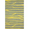 nuLOOM Rays Hand Hooked Cotton Gold Area Rug