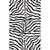 Earth Zebra Wool Handmade Zebra Black Rug