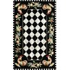 Chelsea Rooster Black Novelty Rug