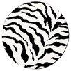 nuLOOM Earth Zebra Print Black/Ivory Area Area Rug