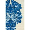 nuLOOM Fancy Blue/Beige Fantasy Area Rug