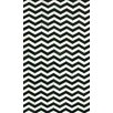 Hides Black Waves Rug