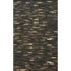 nuLOOM Hides Dark Brown Patches Striped Area Rug