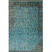 <strong>Ayers Turquoise Washed Damask Fringe Rug</strong> by nuLOOM