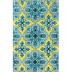 nuLOOM Fancy Gold/Blue Stars Area Rug