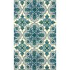 nuLOOM Fancy Blue/Ivory Stars Area Rug