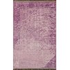nuLOOM Ayers Purple Washed Damask Fringe Area Rug