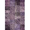 Hides Purple Patchwork Rug