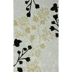 nuLOOM Cine Grey Fall Leaves Area Rug