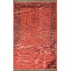 <strong>nuLOOM</strong> Ayers Red Washed Damask Fringe Rug