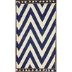 <strong>nuLOOM</strong> Flatweave Navy Wave Border Rug