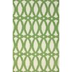 nuLOOM Flatweave Green Twizzle Area Rug