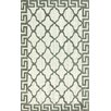 nuLOOM Brilliance White/Green Courtney Area Rug